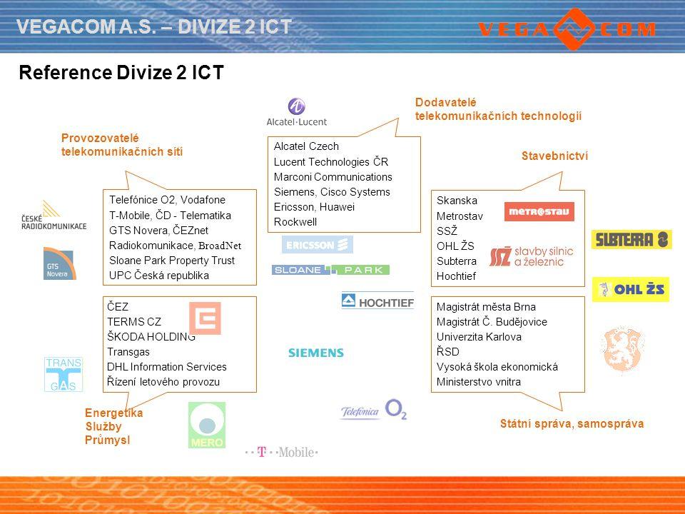 Reference Divize 2 ICT Dodavatelé telekomunikačních technologií