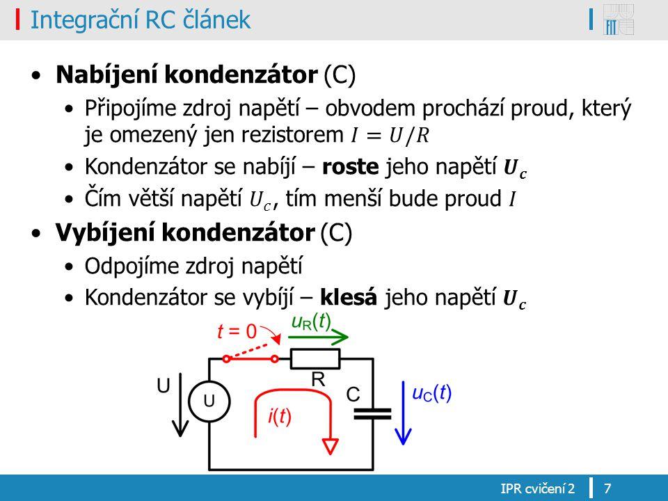 Nabíjení kondenzátor (C)