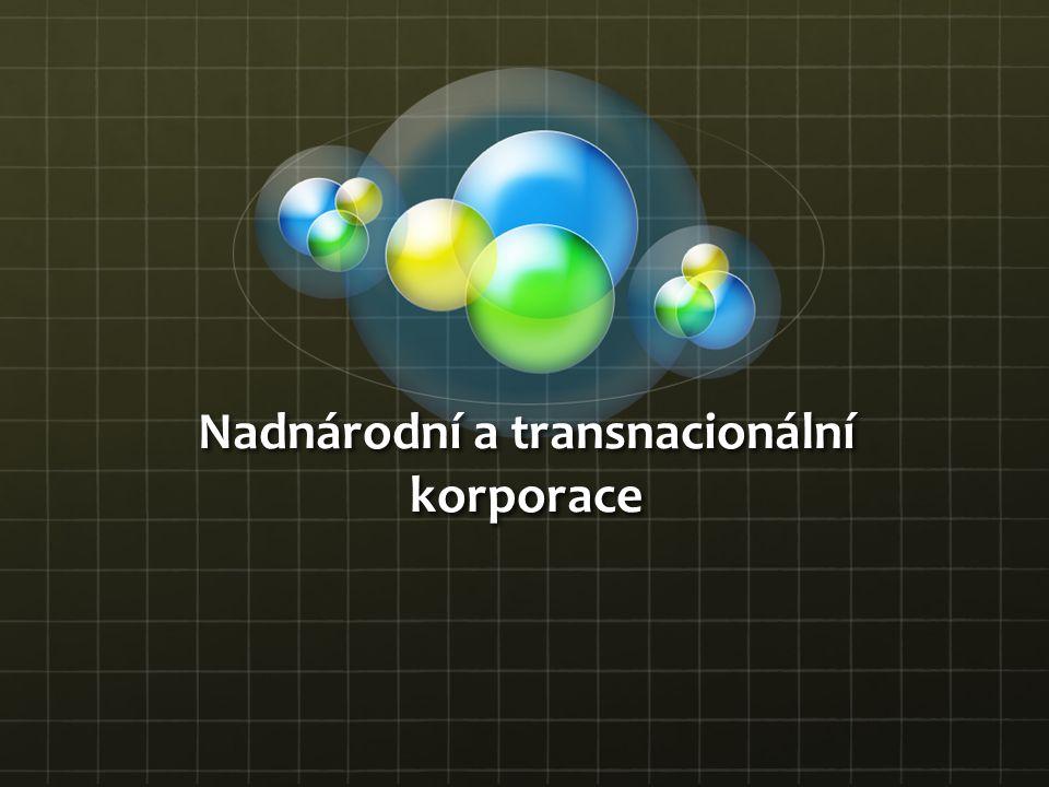 Nadnárodní a transnacionální korporace
