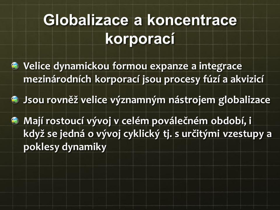 Globalizace a koncentrace korporací