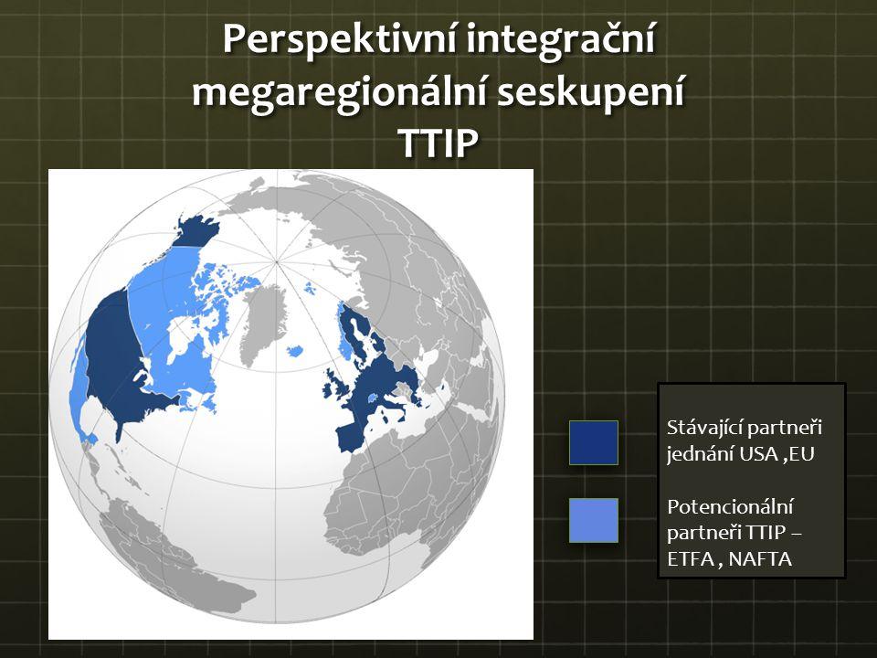 Perspektivní integrační megaregionální seskupení TTIP