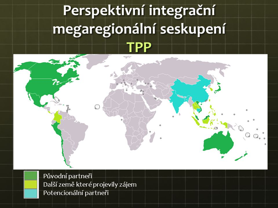 Perspektivní integrační megaregionální seskupení TPP