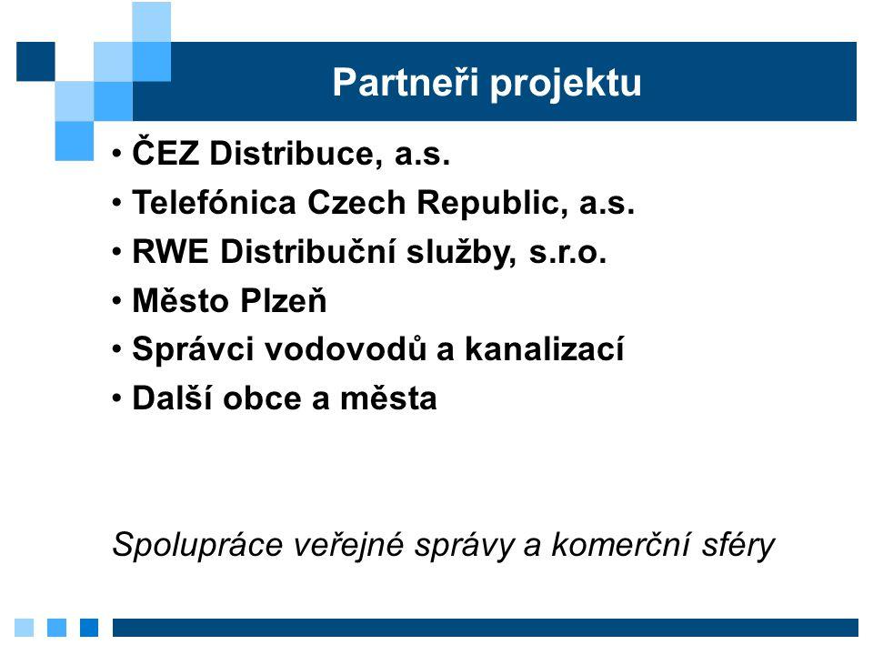 Partneři projektu ČEZ Distribuce, a.s. Telefónica Czech Republic, a.s.
