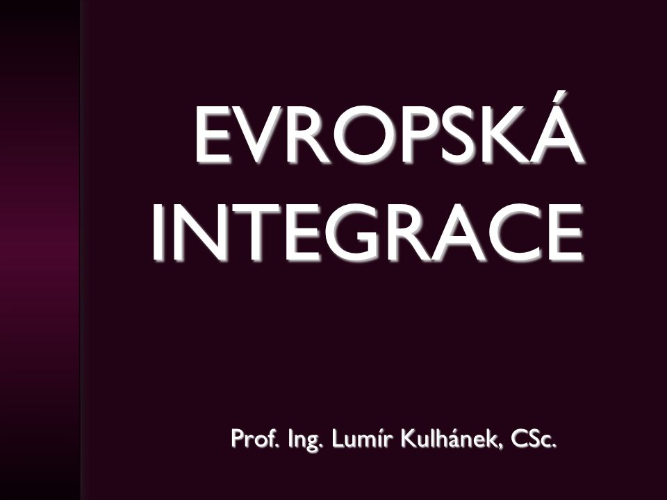 Prof. Ing. Lumír Kulhánek, CSc.