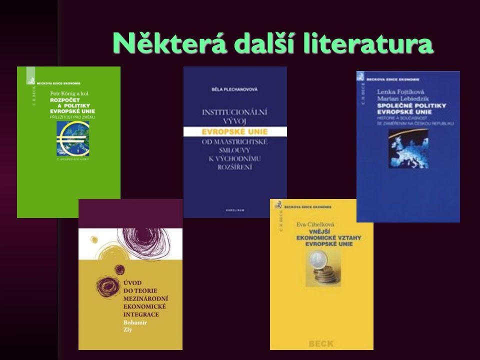 Některá další literatura