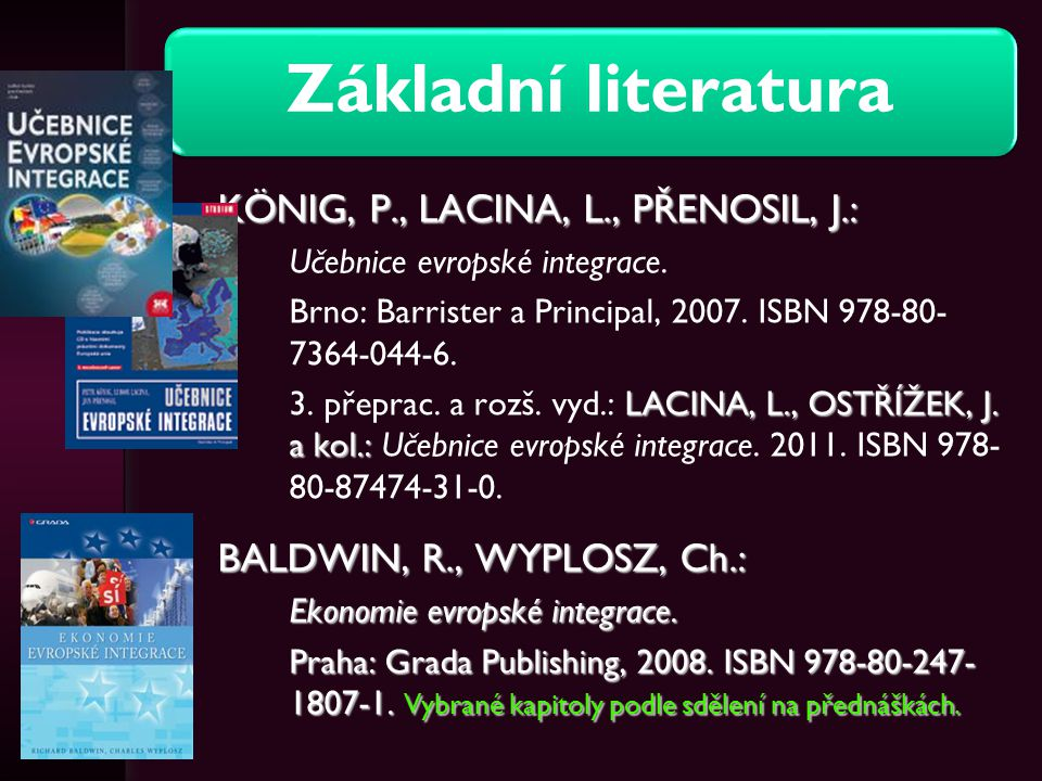König, P., Lacina, L., Přenosil, J.:
