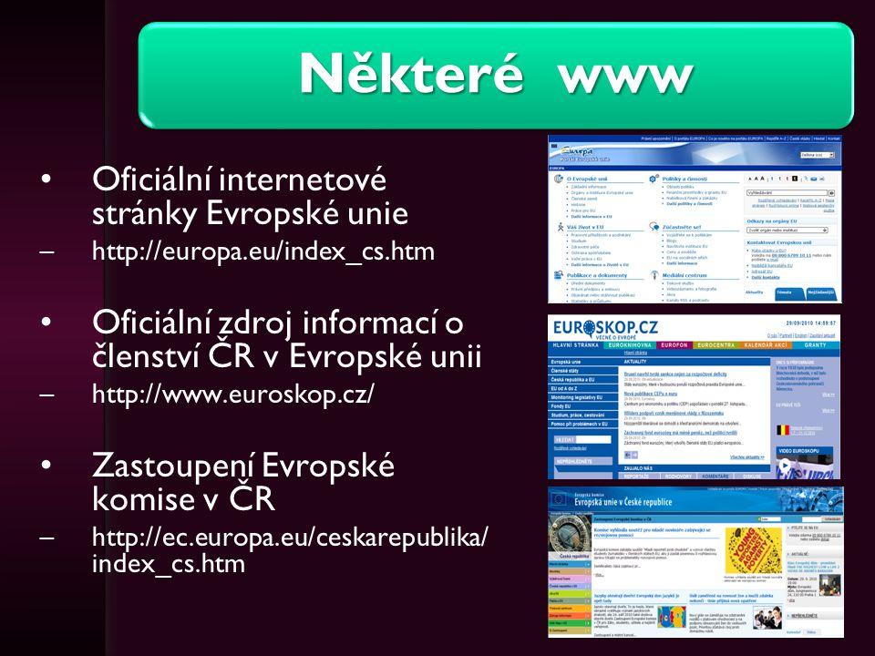 Některé www Oficiální internetové stránky Evropské unie