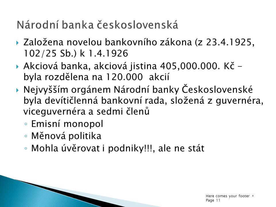 Národní banka československá