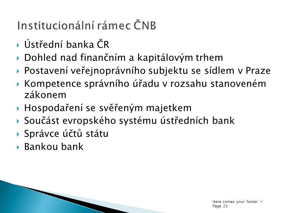Institucionální rámec ČNB
