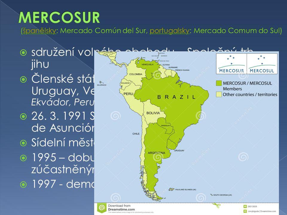 MERCOSUR (španělsky: Mercado Común del Sur, portugalsky: Mercado Comum do Sul)