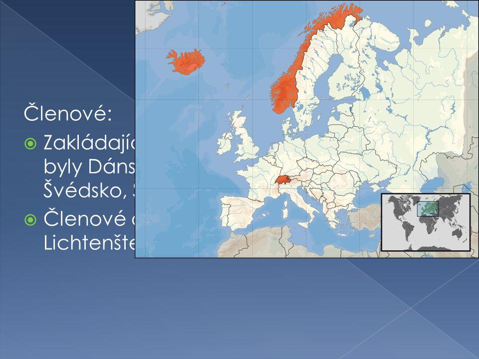 Členové: Zakládajícími členy byly Dánsko, Norsko, Portugalsko, Rakousko, Švédsko, Švýcarsko a Velká Británie.