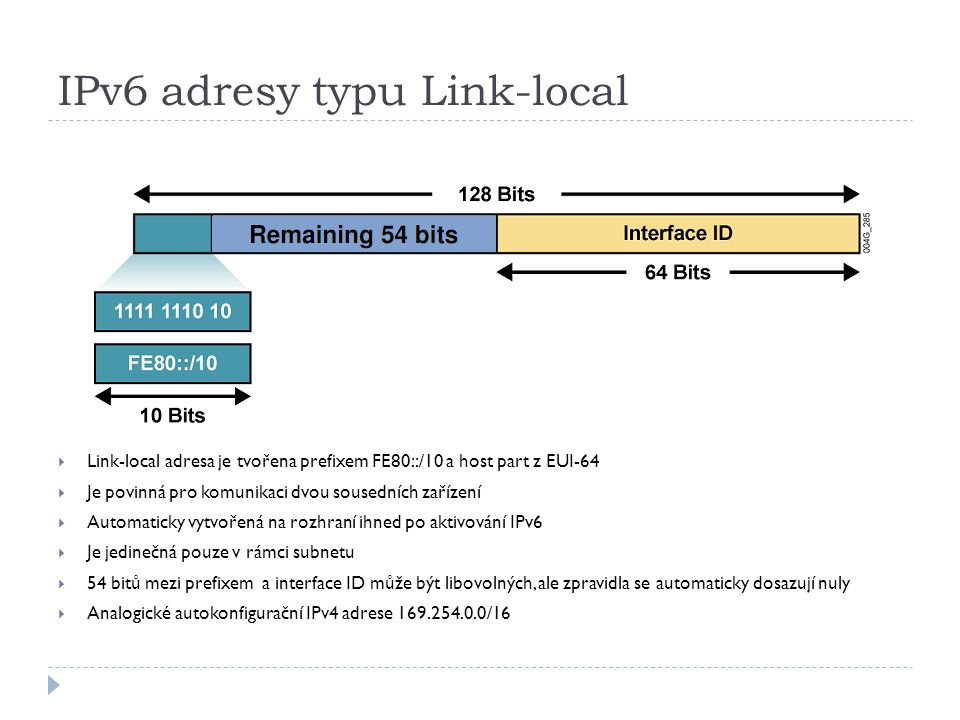 IPv6 adresy typu Link-local