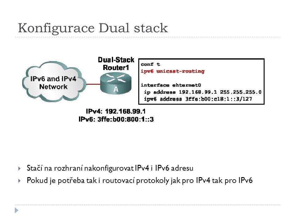 Konfigurace Dual stack
