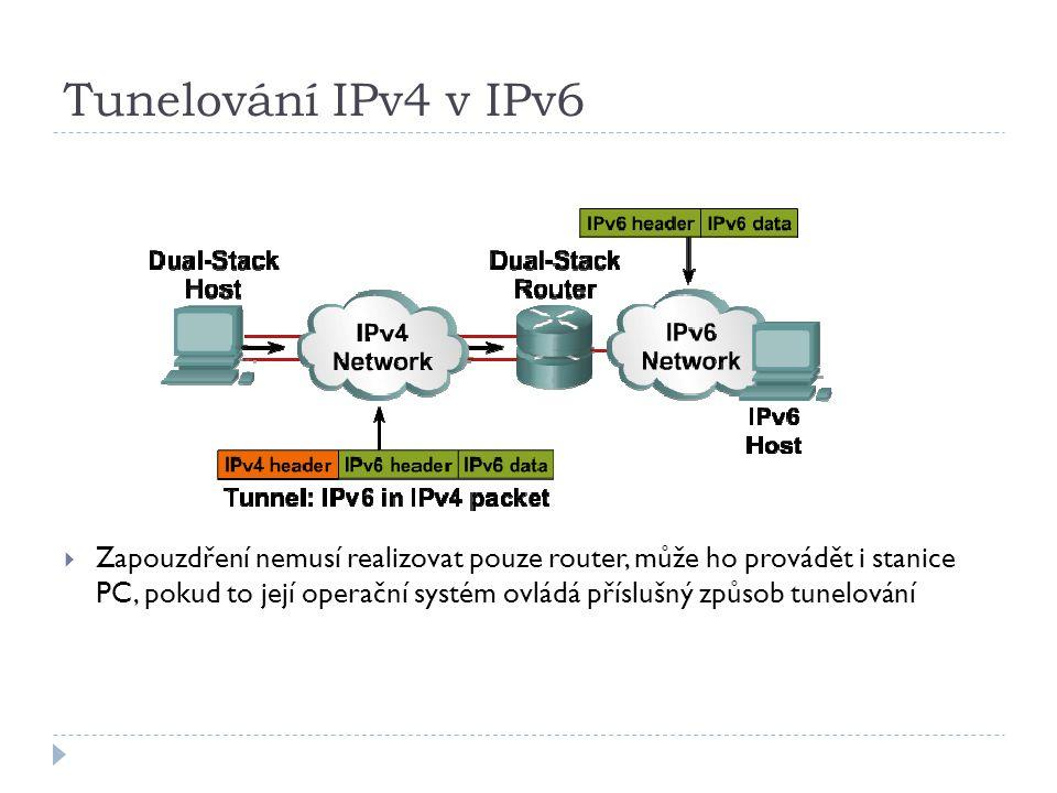 Tunelování IPv4 v IPv6