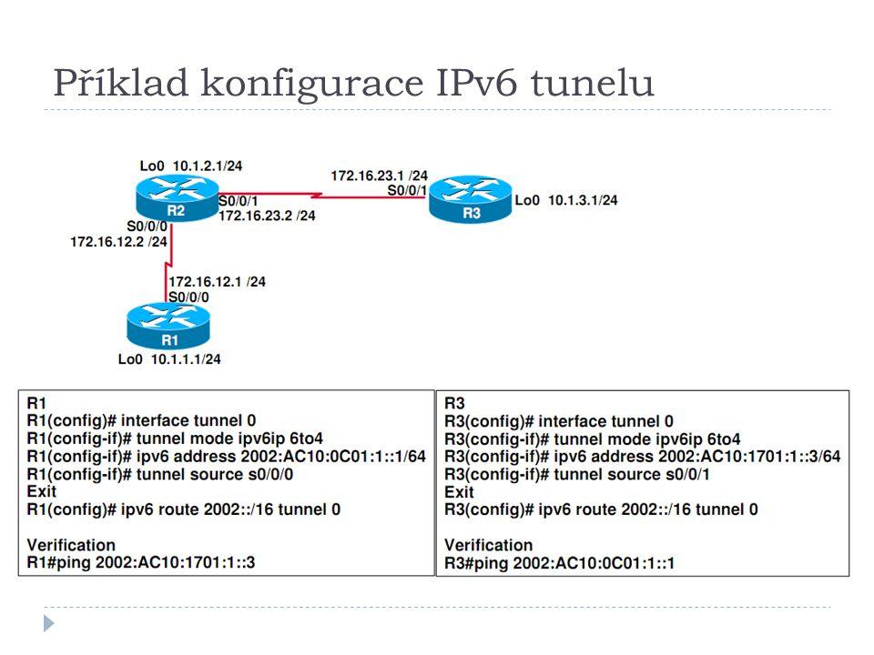 Příklad konfigurace IPv6 tunelu