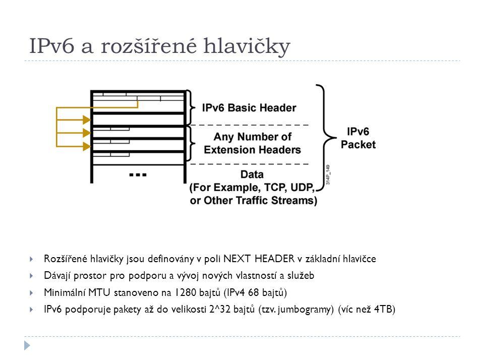 IPv6 a rozšířené hlavičky