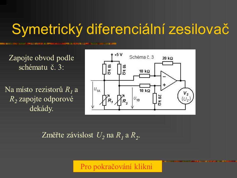 Symetrický diferenciální zesilovač