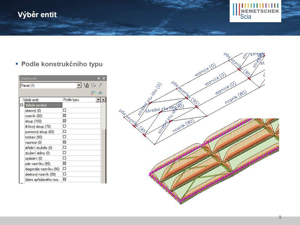 Parametry zobrazení Povrch Rendrování Zobrazit podepřené hrany/uzly