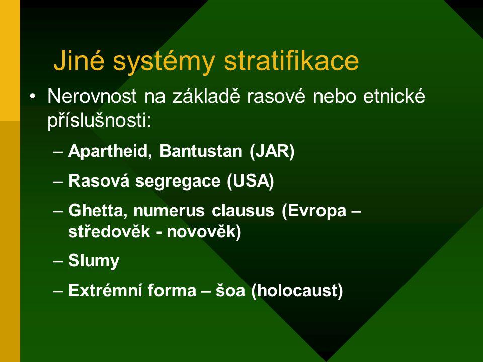 Jiné systémy stratifikace