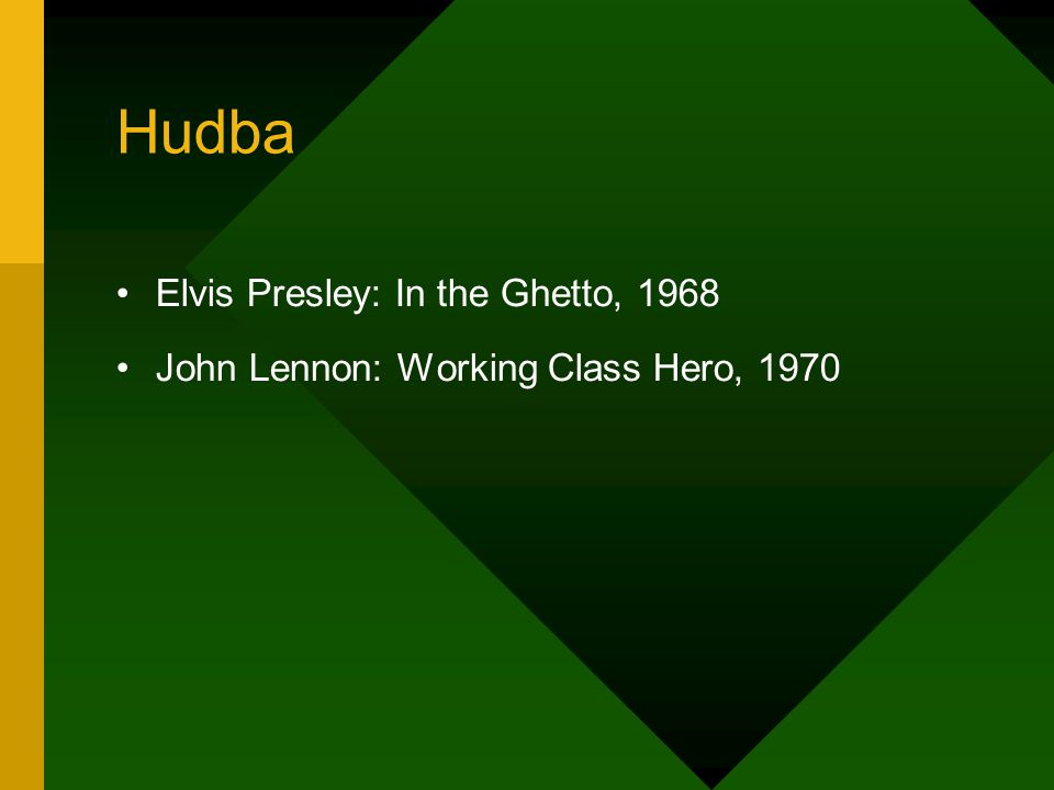 Hudba Elvis Presley: In the Ghetto, 1968