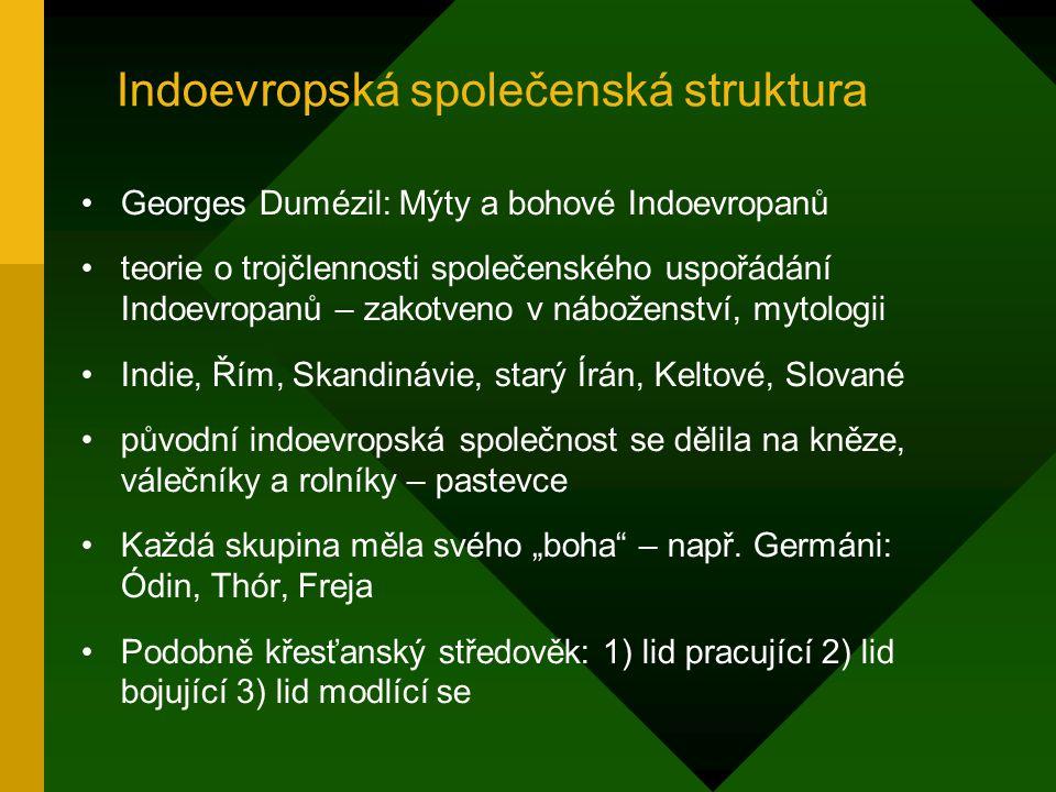 Indoevropská společenská struktura