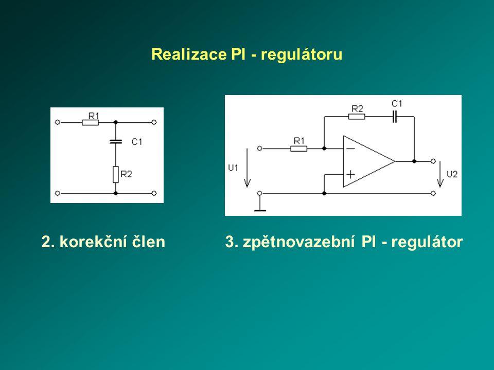Realizace PI - regulátoru 3. zpětnovazební PI - regulátor