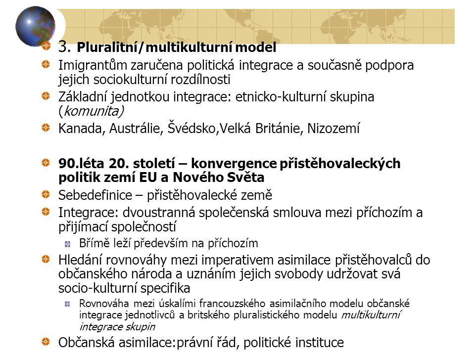 3. Pluralitní/multikulturní model
