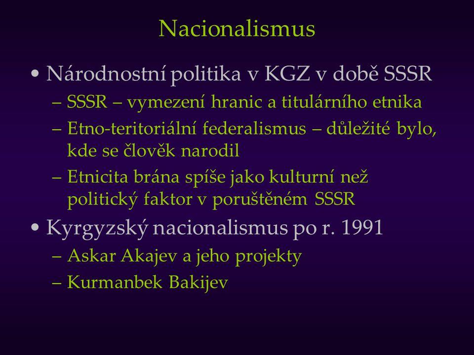 Nacionalismus Národnostní politika v KGZ v době SSSR