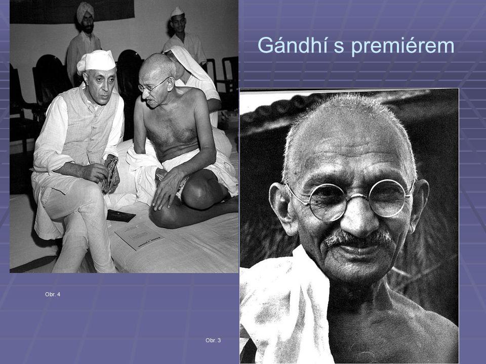 Gándhí s premiérem Obr. 4 Obr. 3