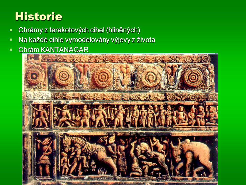 Historie Chrámy z terakotových cihel (hliněných)