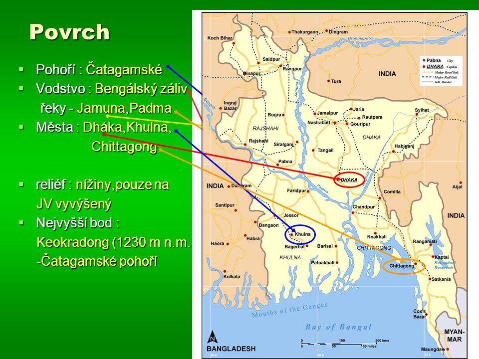 Povrch Pohoří : Čatagamské Vodstvo : Bengálský záliv