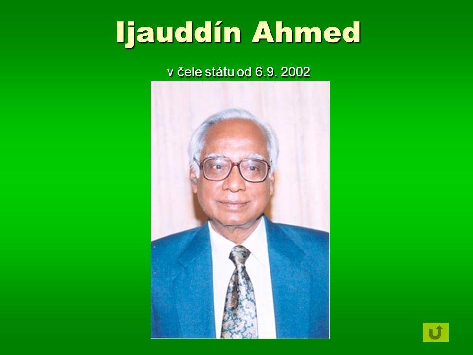 Ijauddín Ahmed v čele státu od 6.9. 2002
