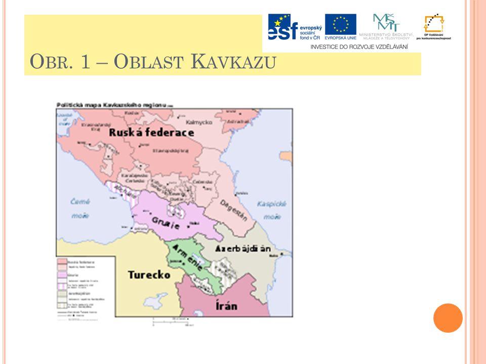 Obr. 1 – Oblast Kavkazu