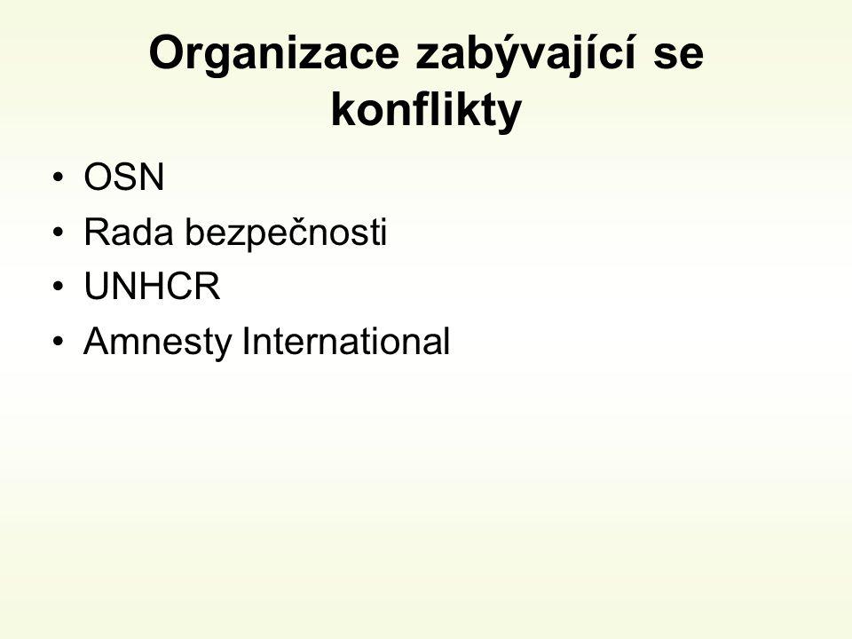 Organizace zabývající se konflikty