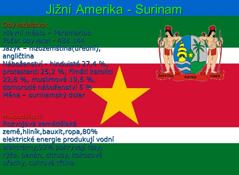 Jižní Amerika - Surinam