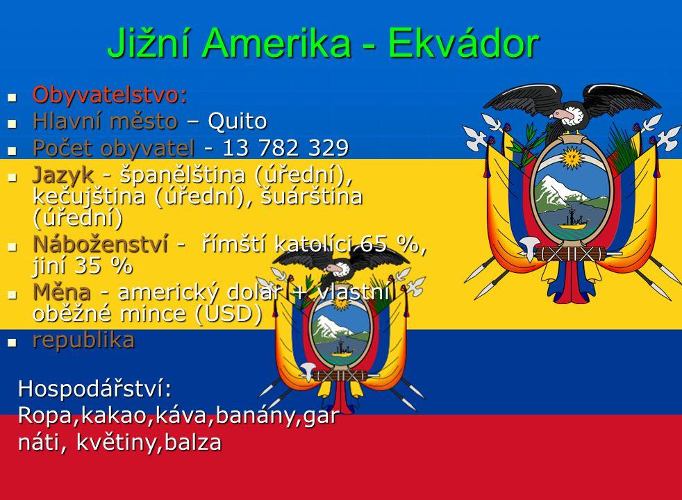 Jižní Amerika - Ekvádor