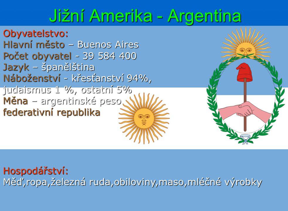 Jižní Amerika - Argentina