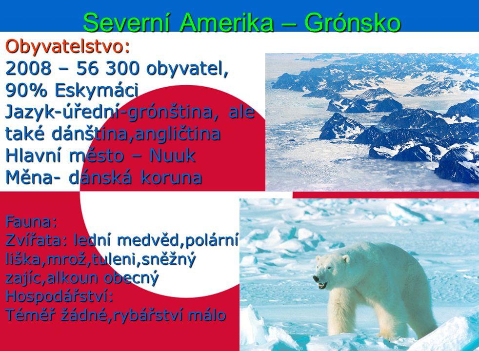 Severní Amerika – Grónsko