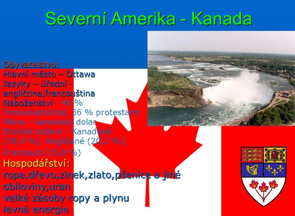 Severní Amerika - Kanada