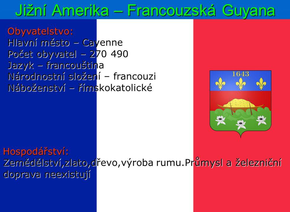 Jižní Amerika – Francouzská Guyana