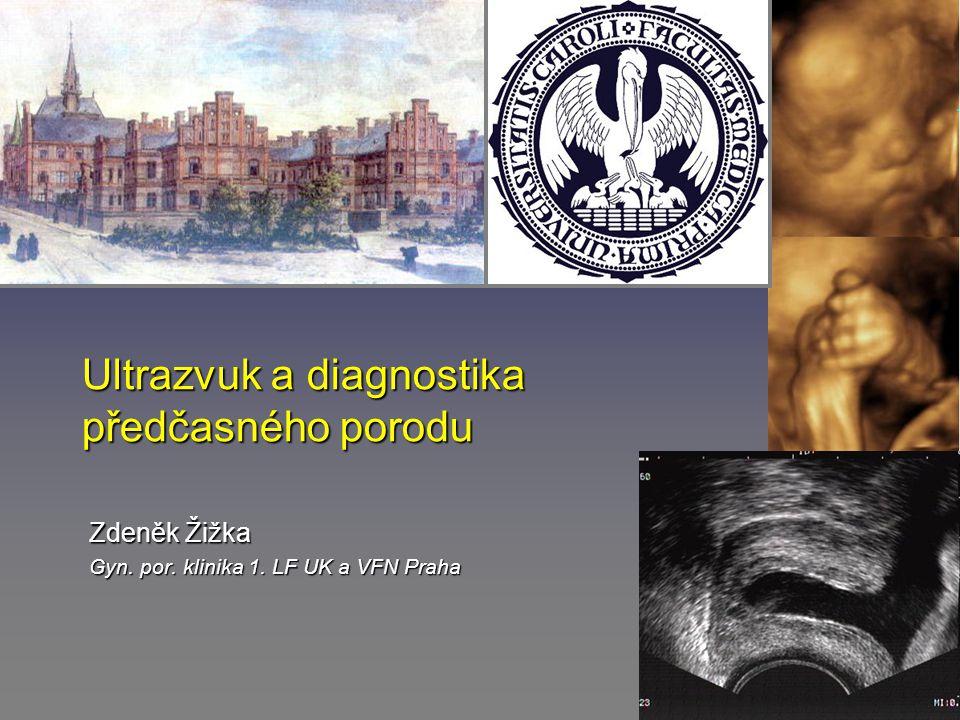 Ultrazvuk a diagnostika předčasného porodu