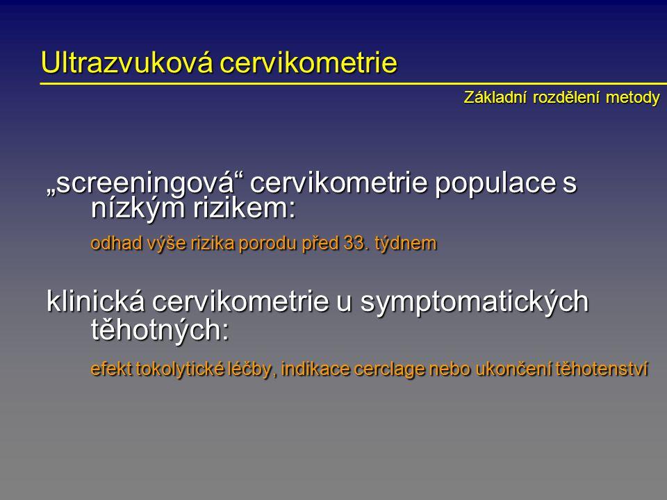 Ultrazvuková cervikometrie