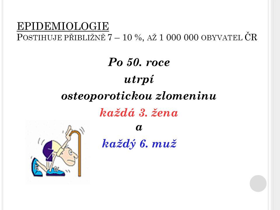 EPIDEMIOLOGIE Postihuje přibližně 7 – 10 %, až 1 000 000 obyvatel ČR