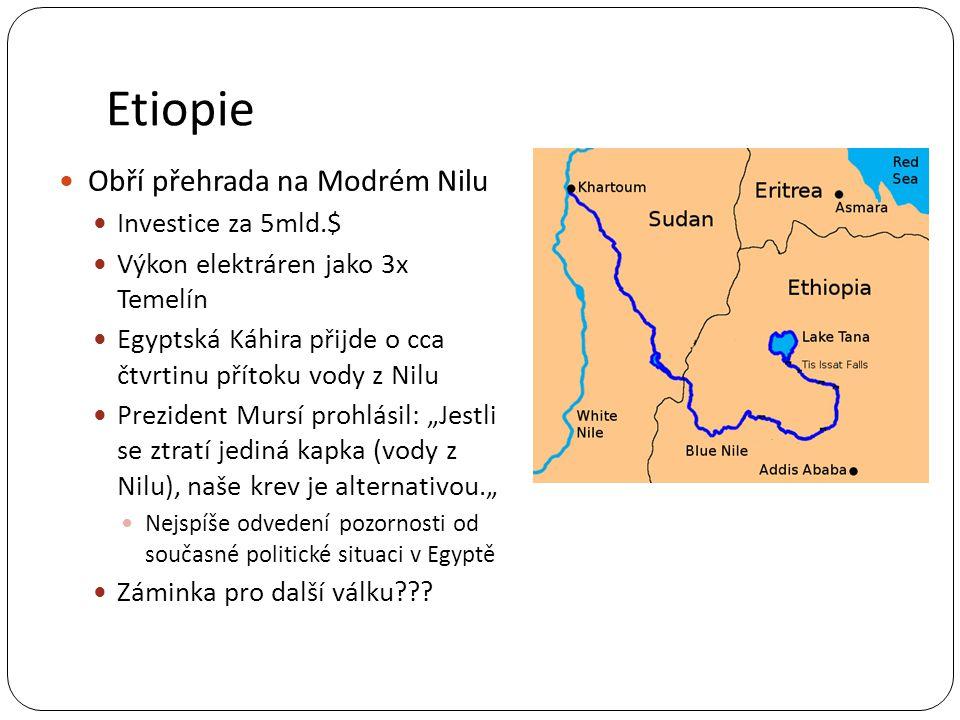 Etiopie Obří přehrada na Modrém Nilu Investice za 5mld.$