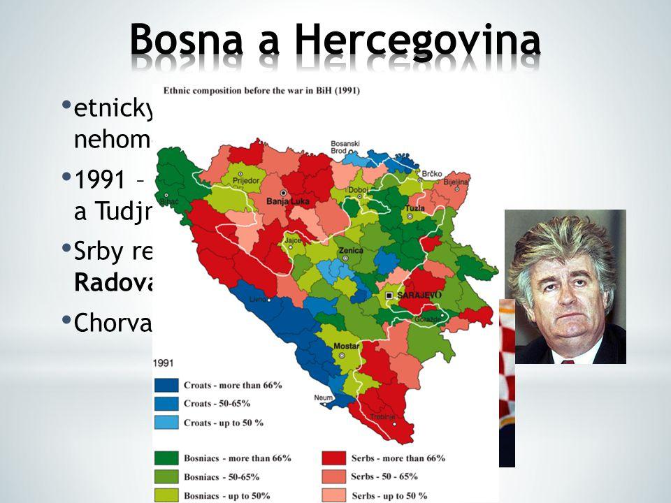 Bosna a Hercegovina etnicky i nábožensky nehomogenní