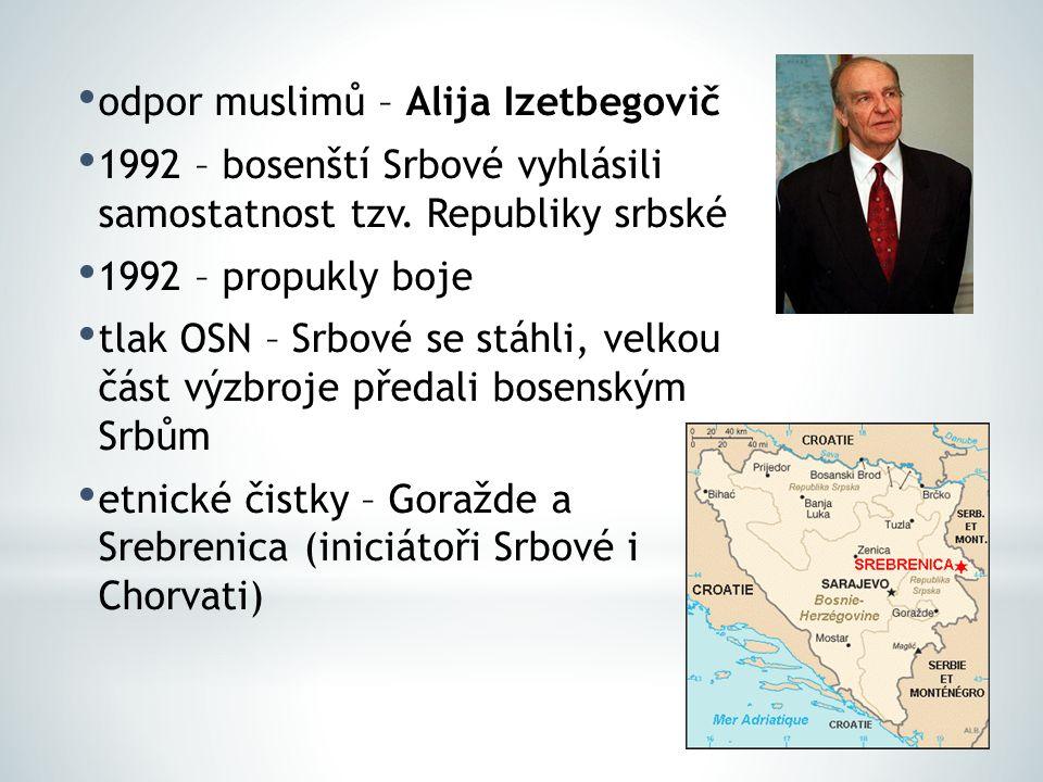 odpor muslimů – Alija Izetbegovič