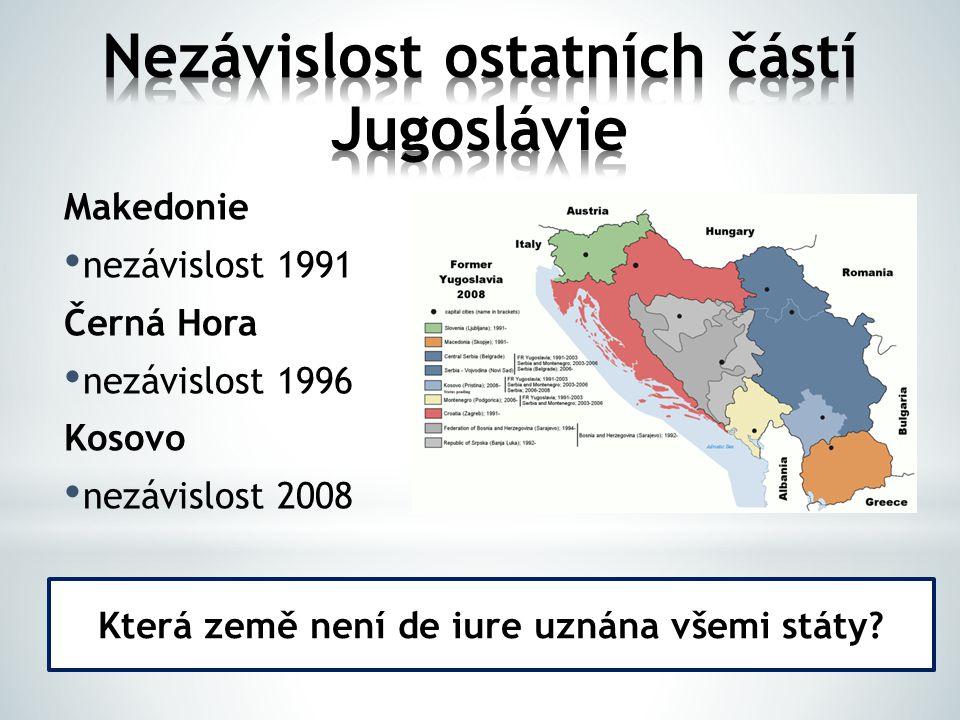 Nezávislost ostatních částí Jugoslávie
