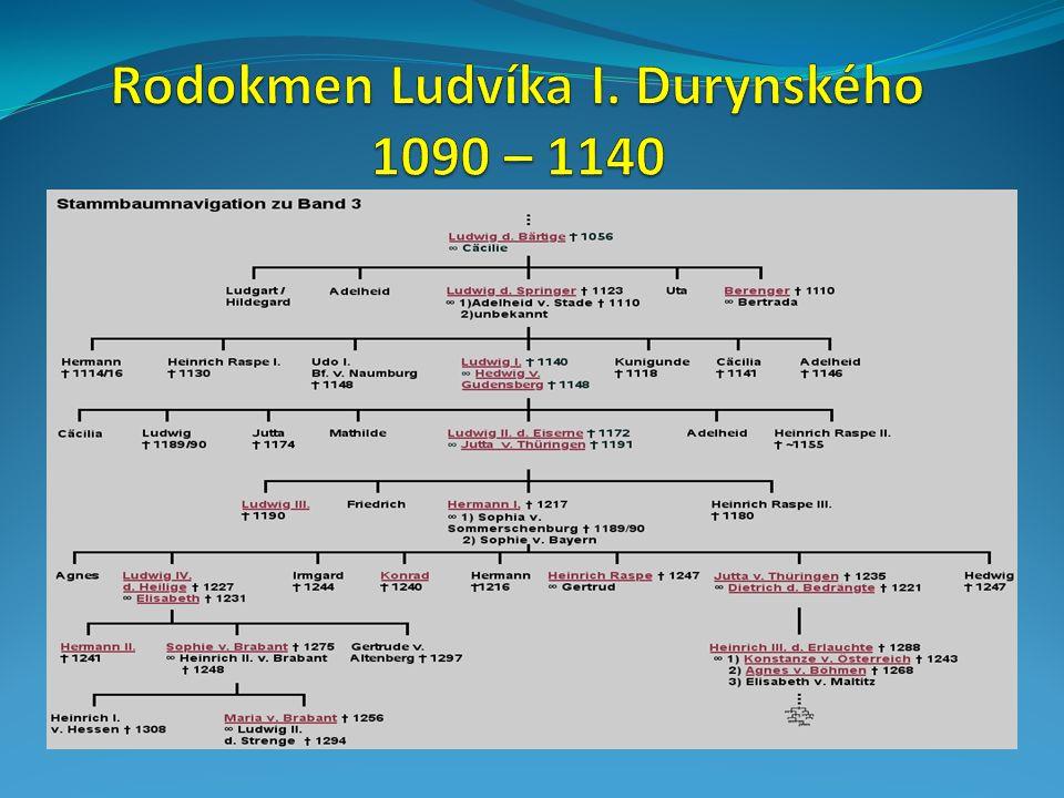 Rodokmen Ludvíka I. Durynského 1090 – 1140