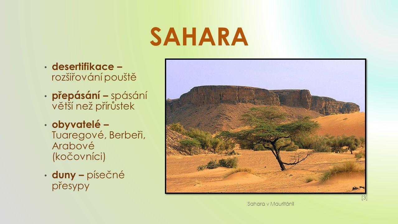 SAHARA desertifikace – rozšiřování pouště