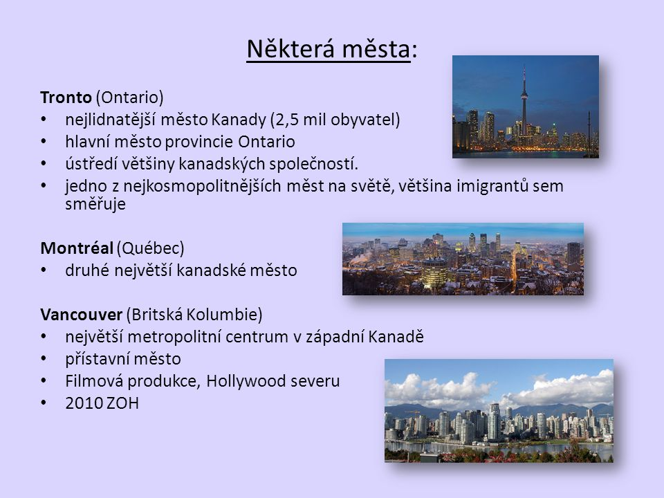 Některá města: Tronto (Ontario)